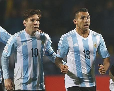 ميسي وتيفيز ضمن تشكيلة الأرجنتين